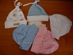 Чепчики и шапочки для малышей от 35 обьёма головы до 47.