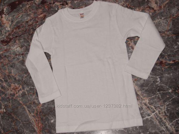 Нательные футболки и кофты длинный рукав для мальчиков и девочек