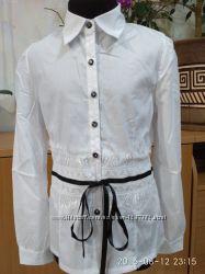 Красивая блузка для девочки в школу - размеры 140, 146, 152, 158, 164