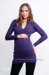 Теплая туника-платье для беременных