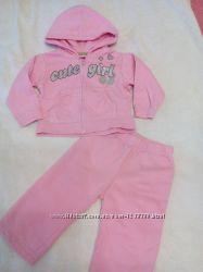 Спортивный костюм, боди, штаны для девочки 6-9-12 мес, 74 см