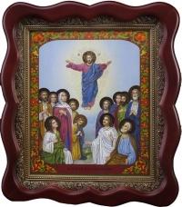 Аналойная икона 12 праздников  воскресение лики
