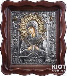 Семистрельная икона Божией Матери Умягчение злых сердец рельеф