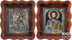 Венчальная пара Иверская Пресвятая Богородица и Господь Вседержитель