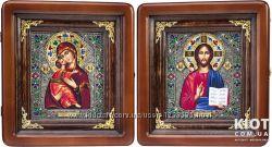 Венчальные иконы Владимирская пара филигрань