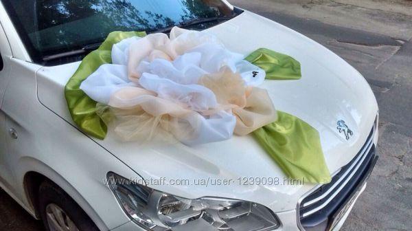 Свадебное украшение из ткани ручной работы на машину