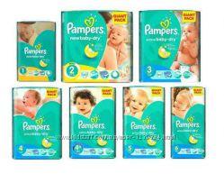 Pampers Active Baby Памперс актив бэби все размеры в наличии