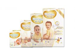 Подгузники Huggies Elite Soft в наличии по низкой цене - памперсы хаггис