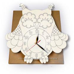 Часы-раскраска Сова-мечтательница