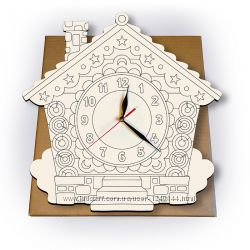 Часы-раскраска ИЗБУШКА