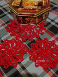 Эксклюзивный набор декоративных салфеток ручной работы