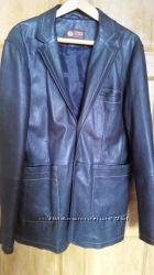 Кожаный пиджак на большого мужчину