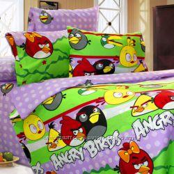 Постельное белье Angry Birds бязь 145х210 см