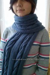 шарф вязанный ручной работы