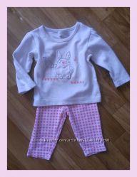 Набор костюм 6-9 мес 68-74-80 см Early Days футболка лосины. Новое