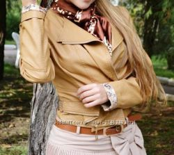 стильная куртка беж пудра Турция