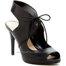 Черные кожаные босоножки бренд NINE WEST р. 37
