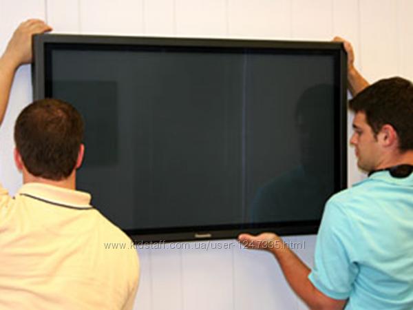 Навес Телевизора на стену Харьков. Крепление, навеска ЖК Панели, Плазмы, LE