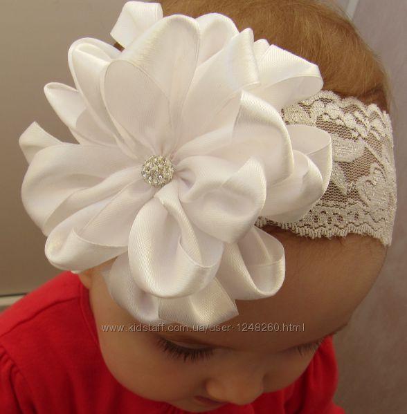 Красивые повязки на голову для девочек своими руками из атласных лент