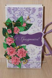 Женская открытка-шоколадница