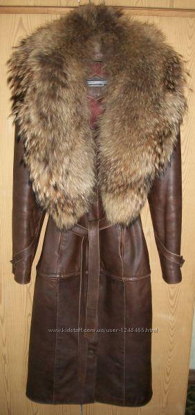 Кожанное пальто-трансформер
