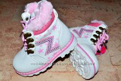 Новые зимние сапоги для девочек, размер 26