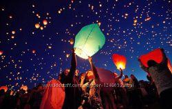 Небесные фонарики купол разные цвета