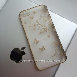 Пластиковый чехол с бабочками на IPhone 66S