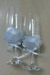 Свадебные бокалы Серебро