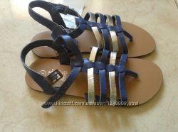 Новые кожаные синие босоножки Tex 32 р-ра