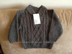 Новый теплый свитер H&M на 6-9 мес