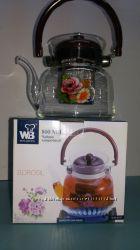 Чайники с заварником, Wellberg 800-1400мл. , низкие цены