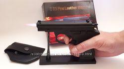 Зажигалка пистолет браунинг browning на подставке в кобуре