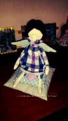 Текстильная кукла. Ангел Соня на подушках