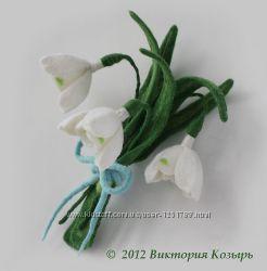 Очаровательные весенние цветы из фетра