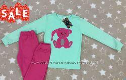 Пижама теплая детская для девочки с Медвеженком