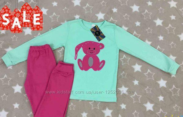 Пижама для девочки с Медвеженком разм. 98-104, 122-128