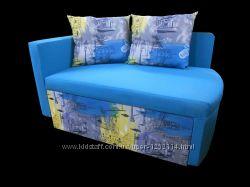 Детский диван Ткань Скетч ВИДЕО малютка кровать
