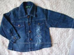 Джинсовый пиджак для девочки 2 лет