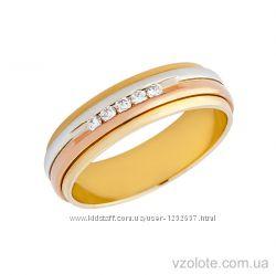 Обручальное кольцо с бриллиантами, программа комфорт плюс
