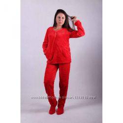 Женская махровая пижама р. 48-56
