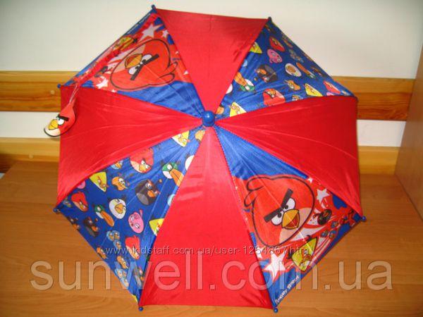 Акция Детские зонты Angry Birds и Superman, 65см