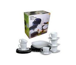 Столовый сервиз из 19пред. Luminarc Carine Black&White