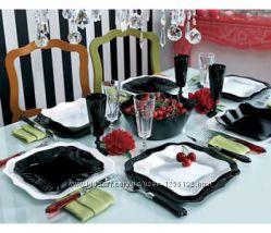 Сервиз Authentic Black White 19 предметов Luminarc E6195
