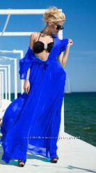 Шикарные пляжные платья-туники в пол  под купальник
