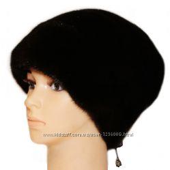 Женская норковая шапка Стелла Роза, черная