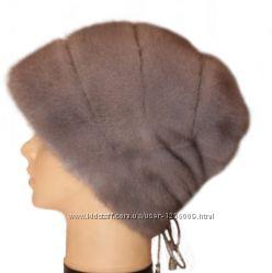 Женская норковая шапка Стелла Роза, серо-голубая