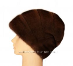 Женская норковая шапка Стелла Роза, орех