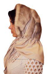 Женский норковый платок, колотый лед