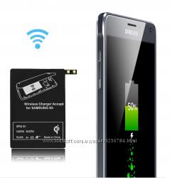 Qi зарядка для телефона Samsung безпроводная  адаптер.